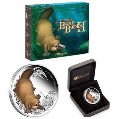 2013 1/2oz Silver Proof Bush Babies II - PLATYPUS