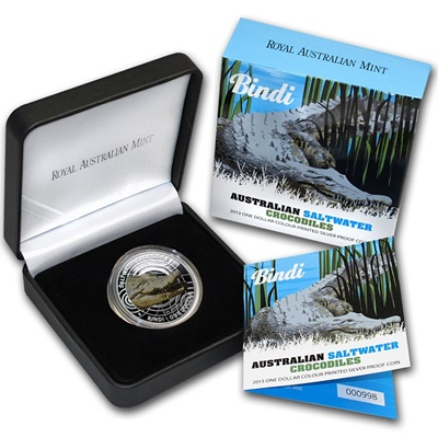 2013 Silver Proof Saltwater Crocodile - Bindi (Coloured)