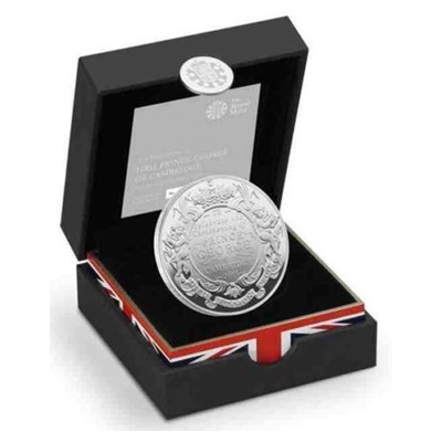 2013 Silver Proof £5 Coin - Christening of HRH Prince George - Click Image to Close