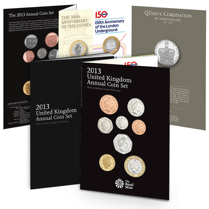2013 United Kingdom Annual Coin Set (The Coins of 2013)