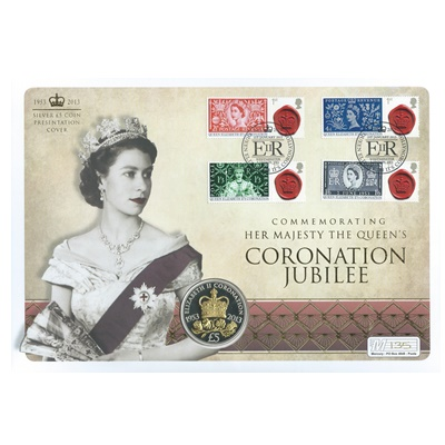 2013 Silver Proof £5 - Coronation Jubilee
