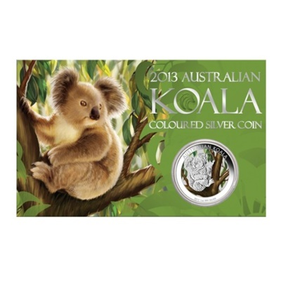 2013 1oz Silver Coloured Koala in Card