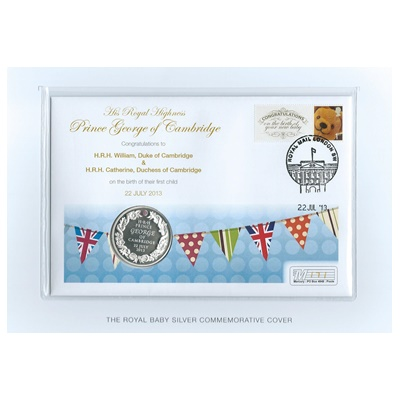 2013 Royal Baby Silver Commemorative - Inset with Ruby