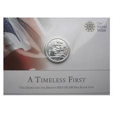 2013 UK £20 Fine Silver Coin - A Timeless First