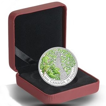 2014 $20 Silver Proof Coin - Maple Canopy (Spring)