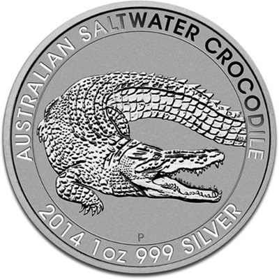 2014 1oz Silver SALTWATER CROCODILE