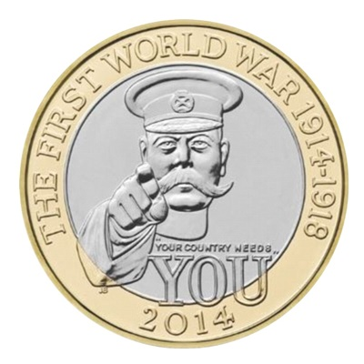 2014 £2 Coin - Outbreak (100th Anniversary of WWI)
