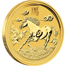2014 1/4oz Gold Lunar HORSE - Series II - NOW IN STOCK