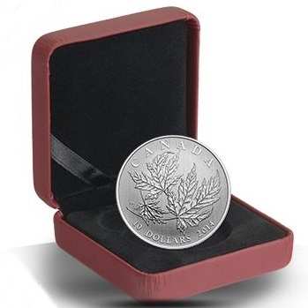 2014 $10 1/2oz Silver Maple Leaf