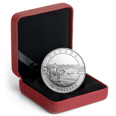2014 O'Canada 1/2oz Silver Proof - COWBOY