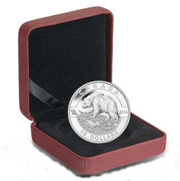 2014 O'Canada 1/2oz Silver Proof - GRIZZLY BEAR