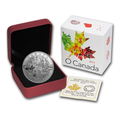 2014 O'Canada 1/2oz Silver Proof - HOLIDAY SCENE
