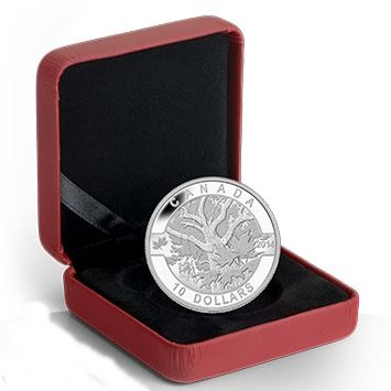 2014 O'Canada 1/2oz Silver Proof - MAPLE TREE
