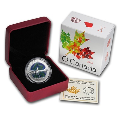 2014 O'Canada 1/2oz Silver Proof - NORTHERN LIGHTS