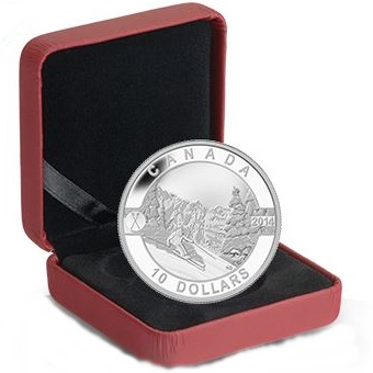 2014 O'Canada 1/2oz Silver Proof - SKIING SLOPES
