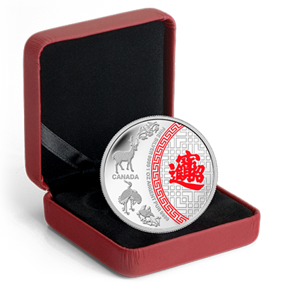 2014 1oz Silver Proof Coin - Five Blessings (Coloured)