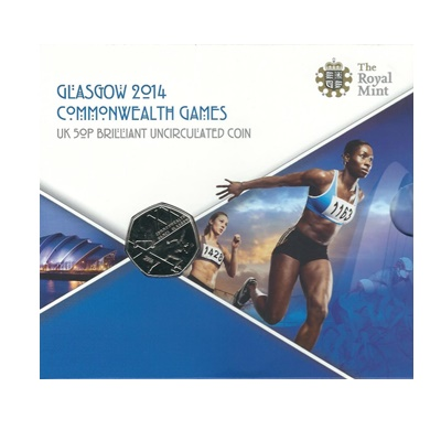 2014 BU 50p Coin Pack - Glasgow 2014 Commonwealth Games