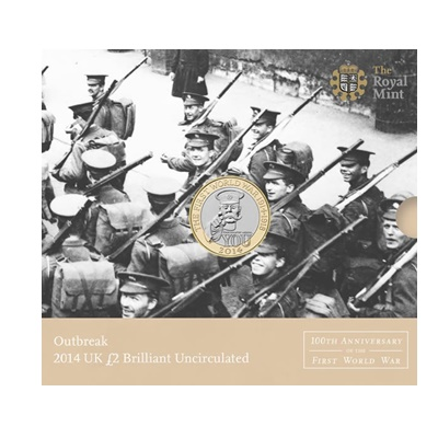 2014 £2 BU Coin Pack - Outbreak - 100th Anniversary of WWI