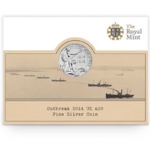 2014 UK £20 Fine Silver Coin - Outbreak