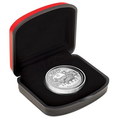 2015 1oz Silver Proof Lunar GOAT - HIGH RELIEF Edition