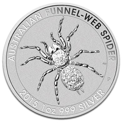 2015 1oz Silver FUNNEL-WEB SPIDER