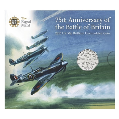 2015 BU 50p Coin Pack - Battle of Britain