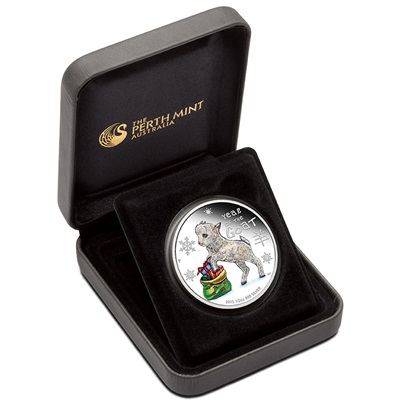 2015 1/2oz Silver Proof Coin - Lunar BABY GOAT