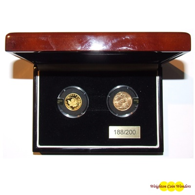 2015 'Operation Fish, 2 Gold Coin Set (Maple/Sovereign)