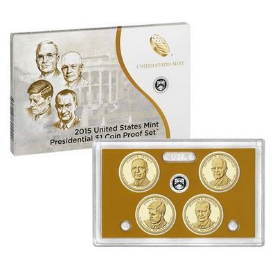 2015 United States Mint Presidential $1 Coin Proof Set