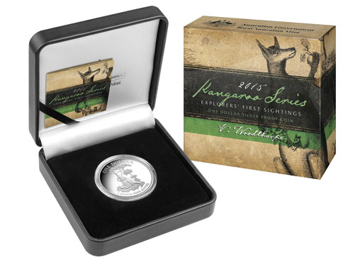 2015 1oz Silver Proof Kangaroo - Explorers' First Sightings