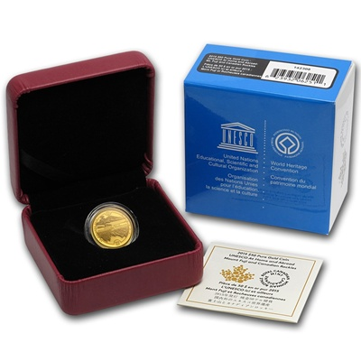 2015 Canada 1/4 oz Gold Proof $50 - Unesco - Click Image to Close