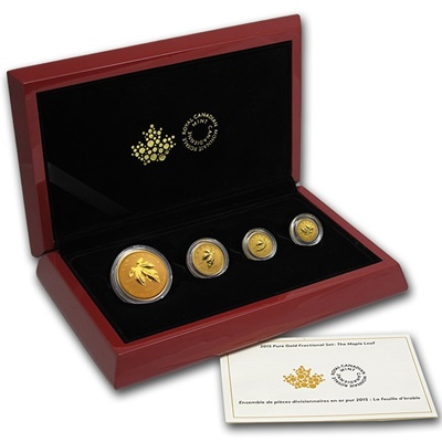 2015 Gold 4 Coin MAPLE Set (1.4oz)