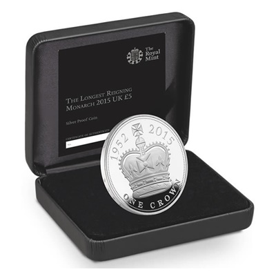 2015 Silver Proof £5 Coin - The Longest Reigning Monarch