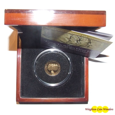 2015 Gold Proof 1/2 Sovereign - 'Long To Reign Over Us'