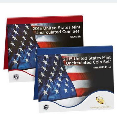 2015 United States Mint Uncirculated Coin Set (P & D)