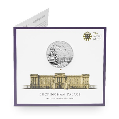 2015 £100 Fine Silver Coin - Buckingham Palace
