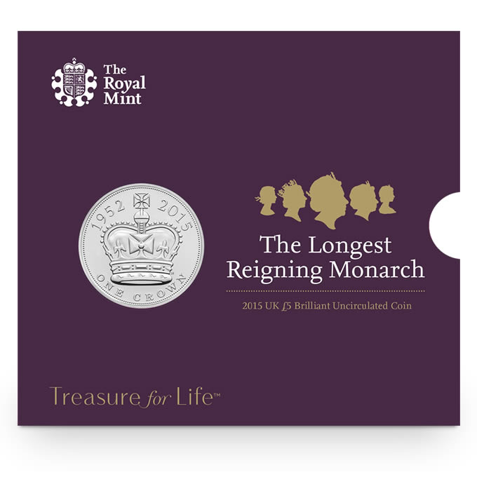 2015 £5 BU Coin - The Longest Reigning Monarch