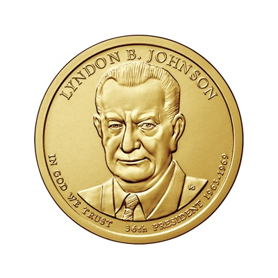 2015 (P) Presidential $1 Coin – Lyndon B Johnson
