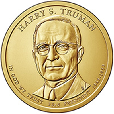 2015 (P) Presidential $1 Coin – Harry S Truman