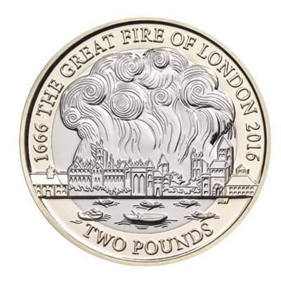 2016 £2 Coin - The Great Fire of London