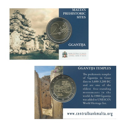 2016 €2 Coin - Malta's Prehistoric Sites - Ġgantija
