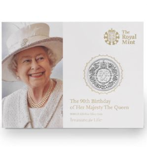 2016 UK £20 Fine Silver Coin - The 90th Birthday of Her Majesty