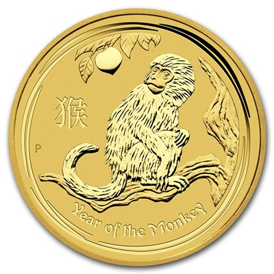 2016 1/20th oz Gold Lunar MONKEY - Series II