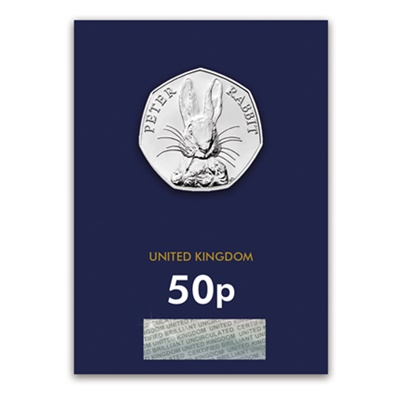 2016 BU 50p Coin (Card) - Peter Rabbit