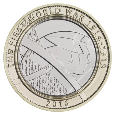 2016 £2 Coin - First World War Centenary Army