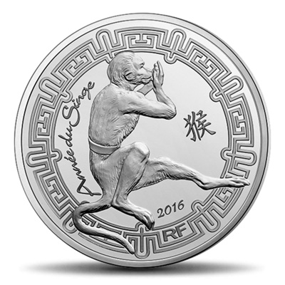 2016 €10 Silver Proof - Year of the MONKEY
