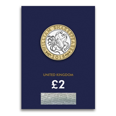 2016 £2 BU Coin (Card) - Shakespeare Comedies