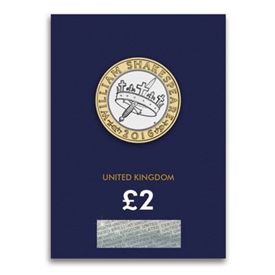 2016 BU £2 Coin (Card) - Shakespeare Histories