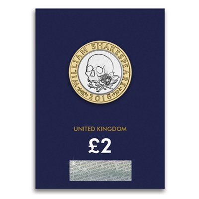 2016 £2 BU Coin (Card) - Shakespeare Tragedies