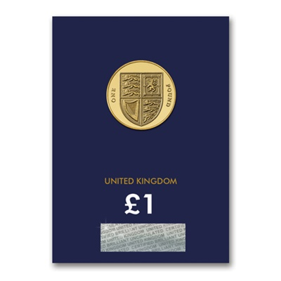 2016 BU £1 Coin (Card) - Royal Shield